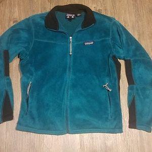 Patagonia Vtg Teal Colorblock Full Zip Up Fleece S